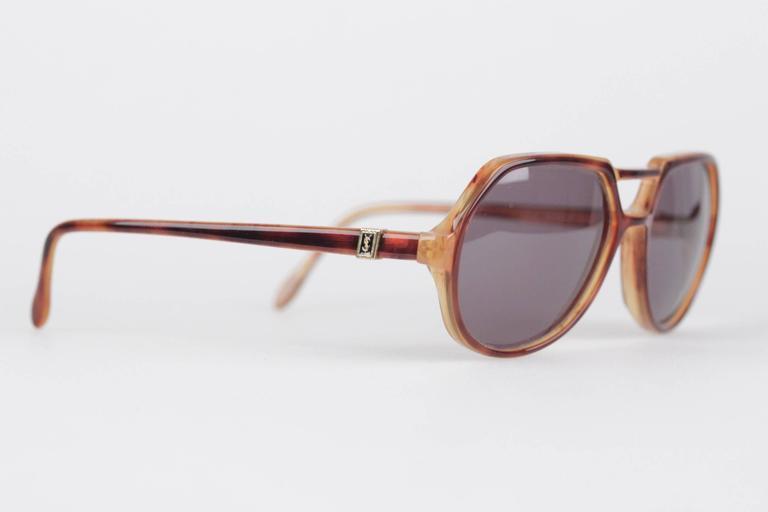 Women Rare Mint Aviator Vintage Thoe Saint Brown 5616 Laurent Sunglasses Yves 3ALS4qjc5R