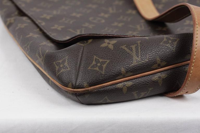 bedadea76fbc Black LOUIS VUITTON Monogram Canvas MUSETTE Shoulder Bag FLAP PURSE  Messenger For Sale