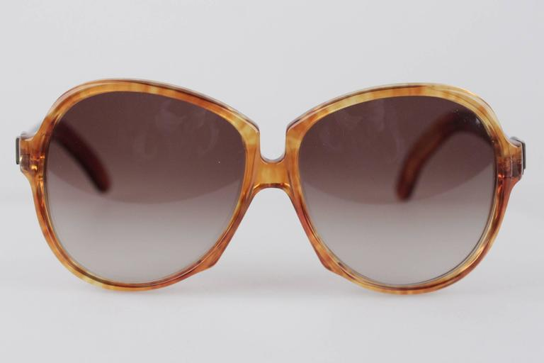 YVES SAINT LAURENT Vintage MINT Orange GAUDE 58/17 Oversized SUNGLASSES 4