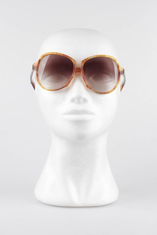 YVES SAINT LAURENT Vintage MINT Orange GAUDE 58/17 Oversized SUNGLASSES 3