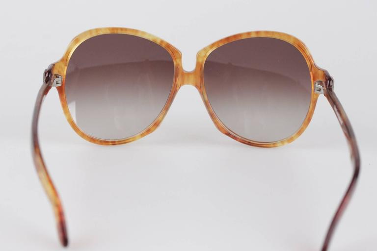 YVES SAINT LAURENT Vintage MINT Orange GAUDE 58/17 Oversized SUNGLASSES 9