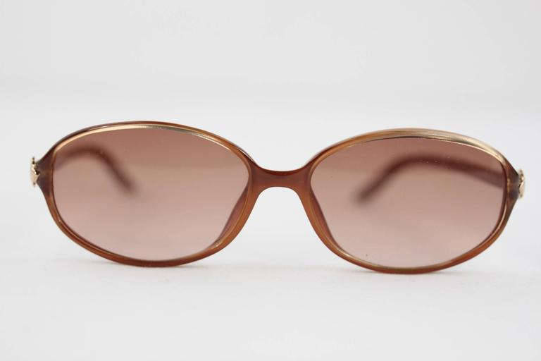 CHRISTIAN DIOR Brown MINT womens SUNGLASSES CD3036 18K 135 eyewear In New never worn Condition For Sale In Rome, IT