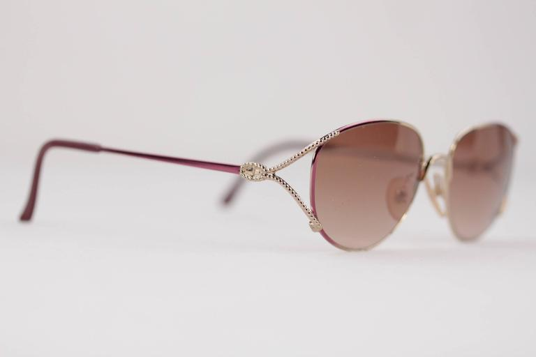 CHRISTIAN DIOR Vintage MINT womens SUNGLASSES 2712 56/16 130 Gold/brown 3
