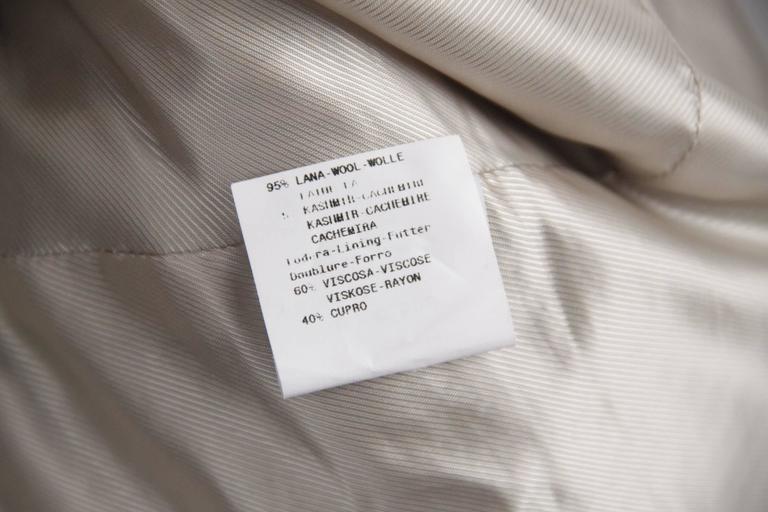 Women's ARMANI COLLEZIONI Striped Wool & Cashmere BLAZER Jacket SIZE 44 For Sale