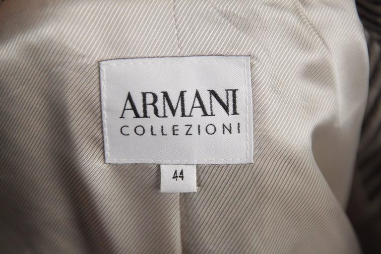 ARMANI COLLEZIONI Striped Wool & Cashmere BLAZER Jacket SIZE 44 For Sale 1