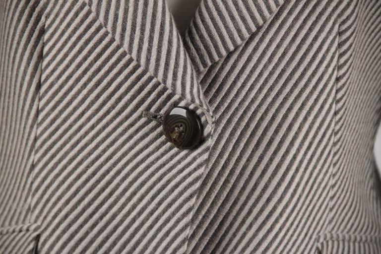ARMANI COLLEZIONI Striped Wool & Cashmere BLAZER Jacket SIZE 44 2
