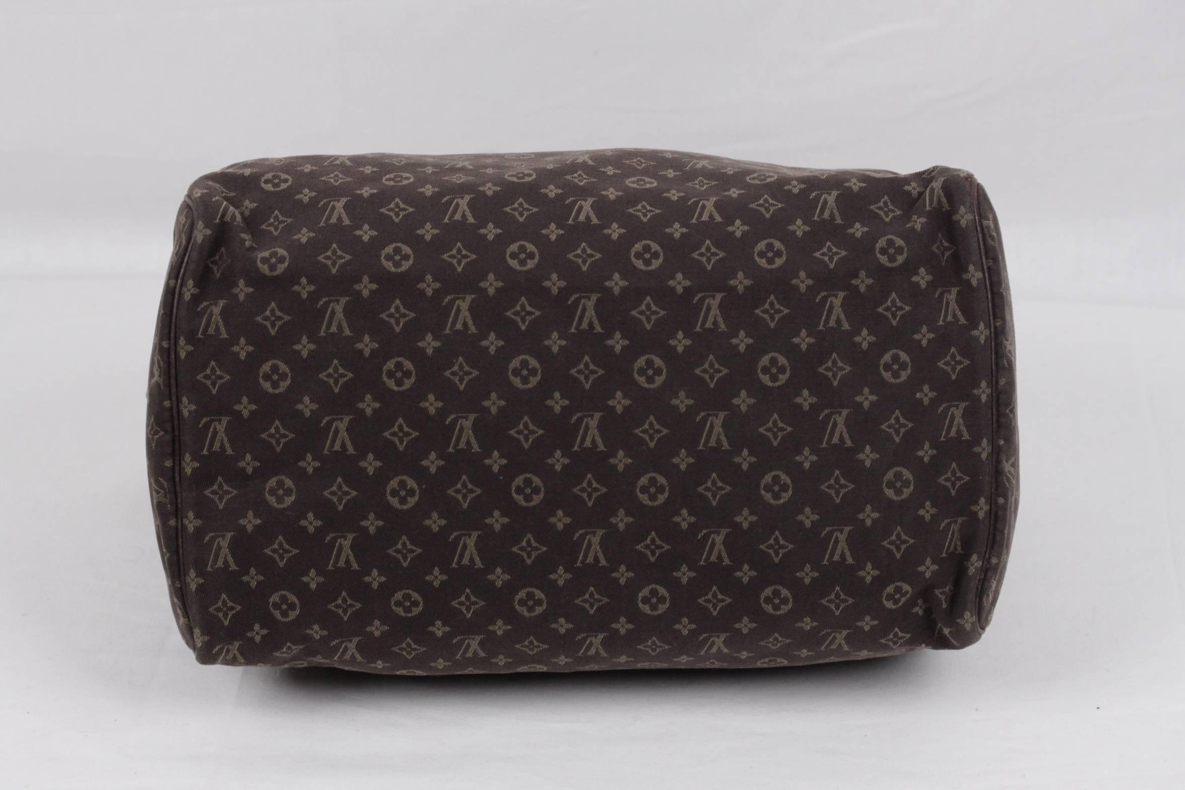 Louis Vuitton Brown Idylle Monogram Mini Lin Canvas Speedy 30 Bag Maroon Handbag At 1stdibs