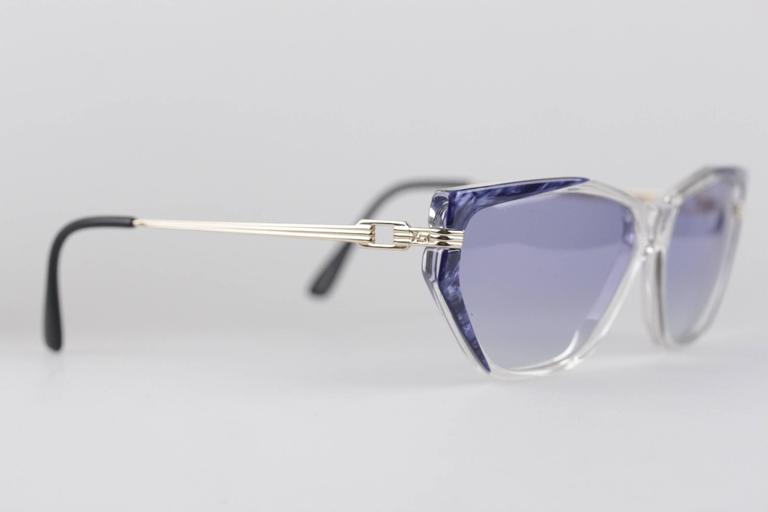YVES SAINT LAURENT Vintage MINT Blue SUNGLASSES EUTERPE 60/13 710 In New Condition For Sale In Rome, Rome
