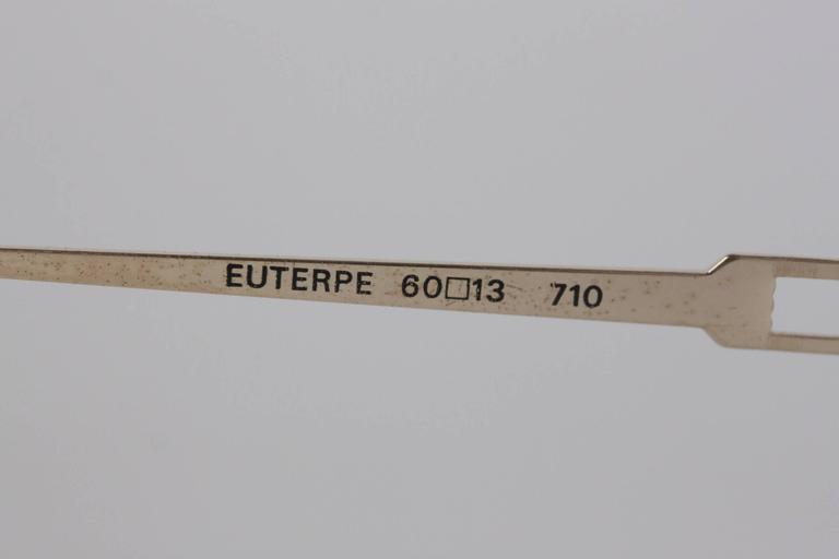Women's YVES SAINT LAURENT Vintage MINT Blue SUNGLASSES EUTERPE 60/13 710 For Sale