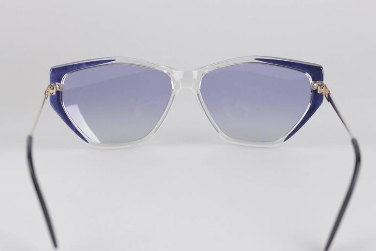 YVES SAINT LAURENT Vintage MINT Blue SUNGLASSES EUTERPE 60/13 710 For Sale 3