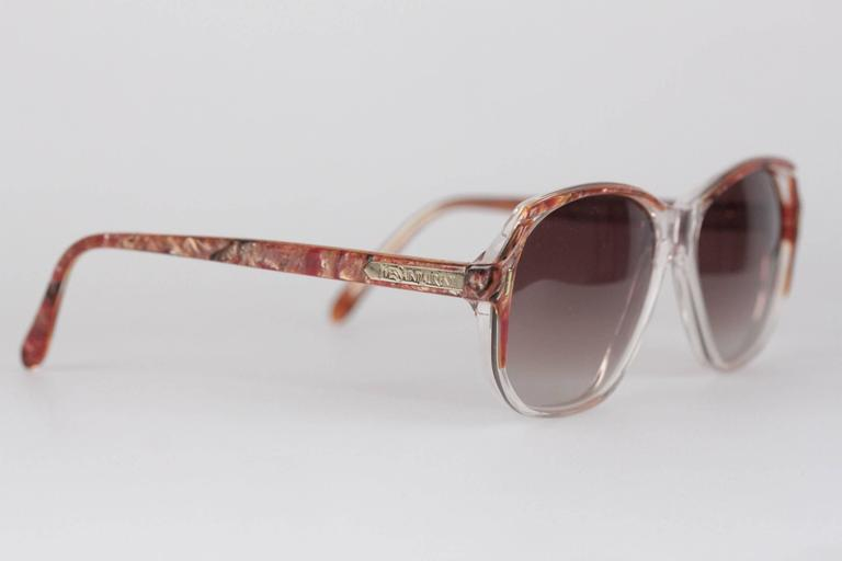 - Vintage YVES SAINT LAURENT sunglasses, Made in France  - mod: SALAMINE - 54716 - 826  - Beautiful Red & Brown Marbled effect on the top part of the frame  - Brown  MINT 100% UV GRADIENT lens  - Made in France  Any other detail which is