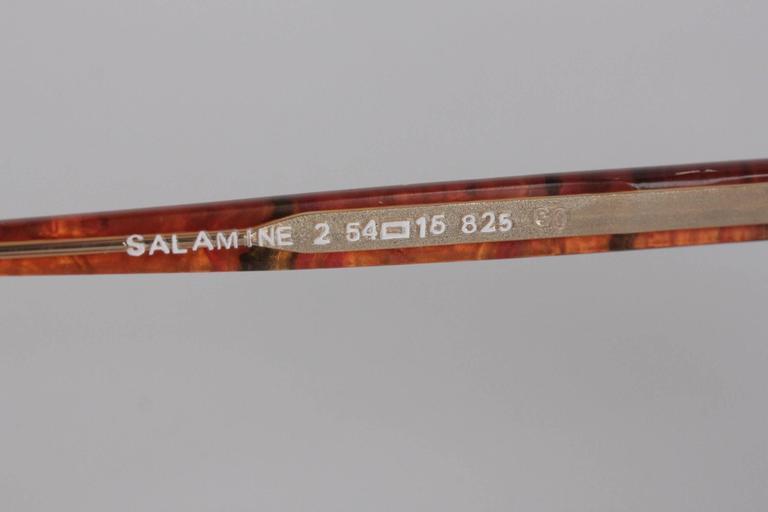 YVES SAINT LAURENT Vintage MINT SUNGLASSES mod SALAMINE 54/16 825 For Sale 2