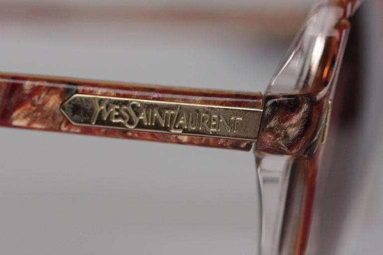 Women's YVES SAINT LAURENT Vintage MINT SUNGLASSES mod SALAMINE 54/16 825 For Sale