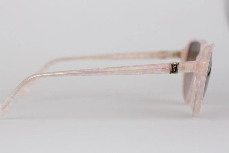 YVES SAINT LAURENT Vintage MINT marbled SUNGLASSES mod PRIAM 58/16 378 In New never worn Condition For Sale In Rome, IT