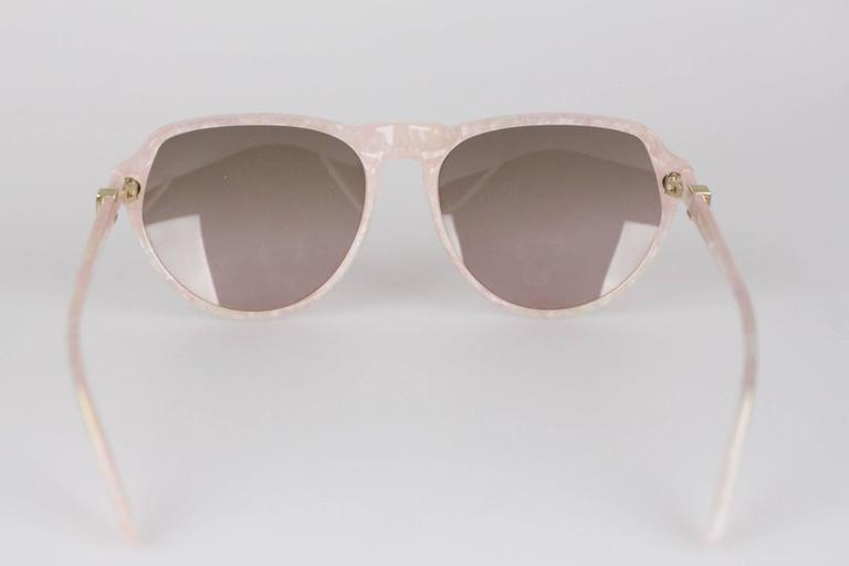 YVES SAINT LAURENT Vintage MINT marbled SUNGLASSES mod PRIAM 58/16 378 8