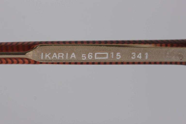 YVES SAINT LAURENT Vintage MINT SUNGLASSES IKARIA 56/15 w/rhinestones For Sale 3