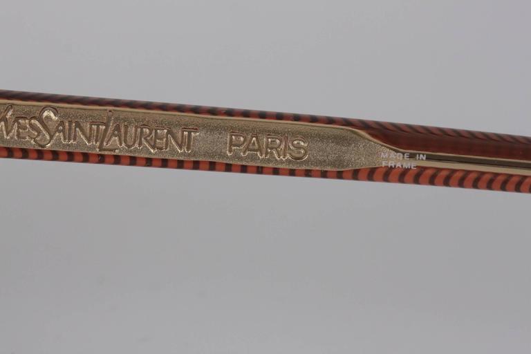 YVES SAINT LAURENT Vintage MINT SUNGLASSES IKARIA 56/15 w/rhinestones For Sale 5
