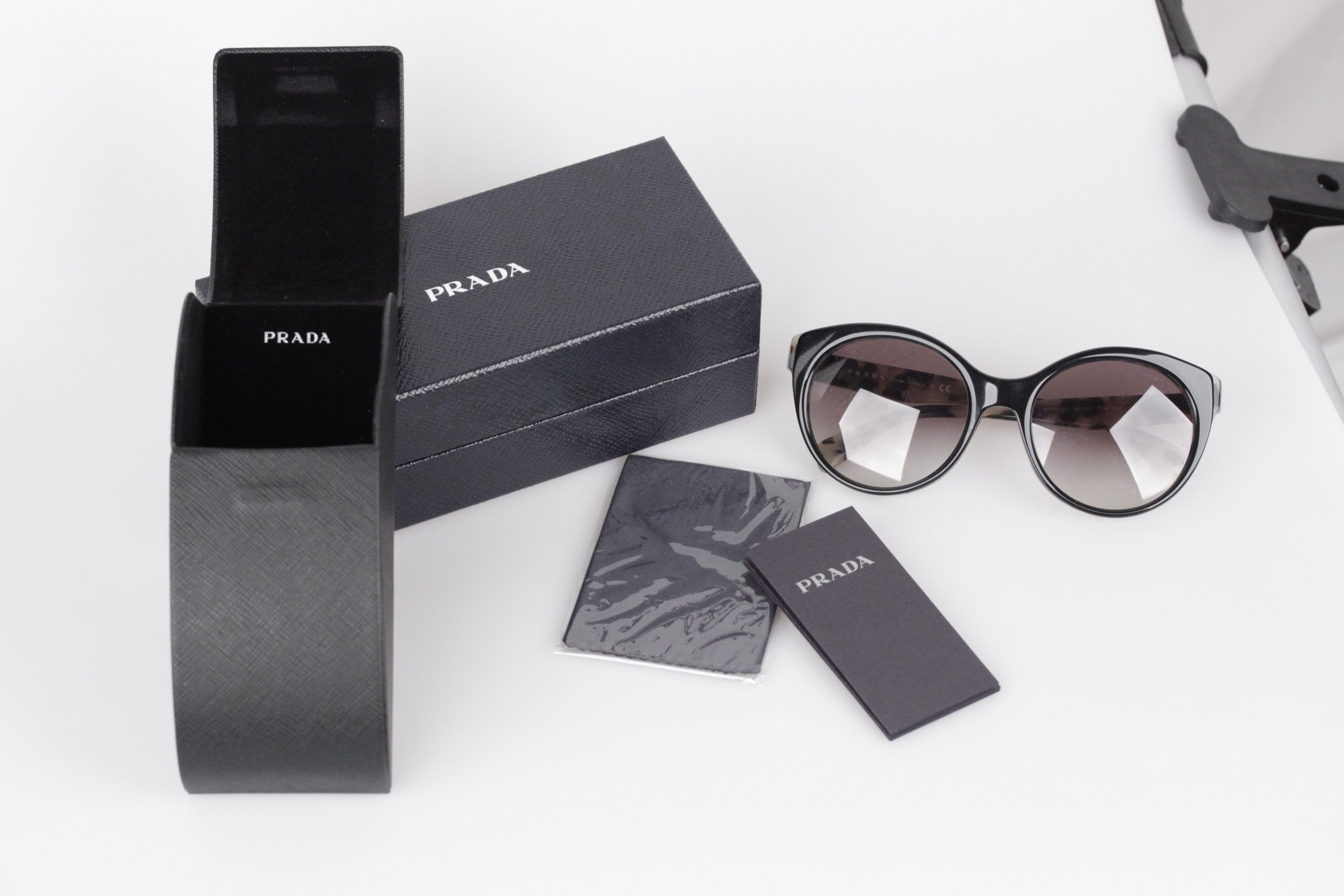4c41c21eaba3 PRADA Sunglasses SPR 230 56 20 140 2N ANIMALIER pattern w CASE and BOX at  1stdibs