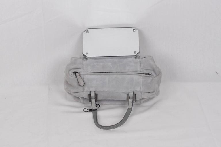 FENDI Gray Grey Suede TO YOU BAG Mini Duffle MIRRORED Handbag For Sale 1