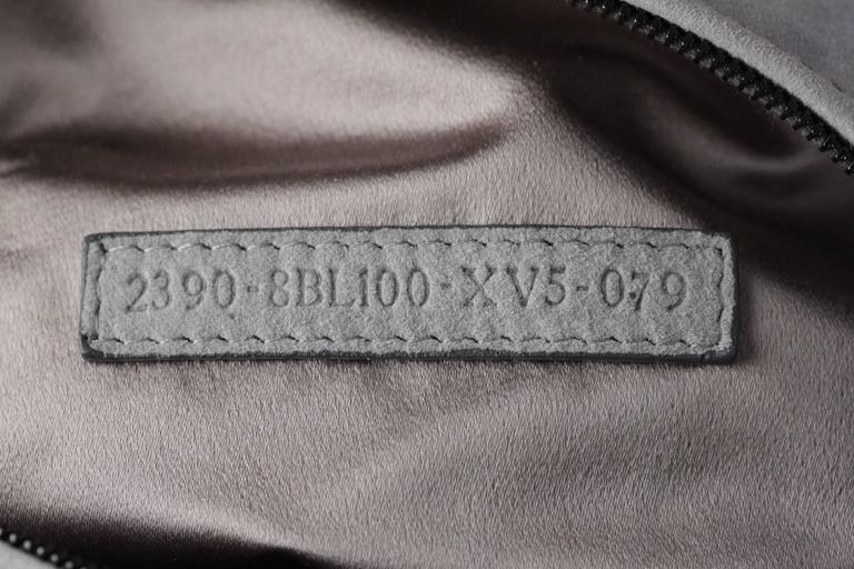 FENDI Gray Grey Suede TO YOU BAG Mini Duffle MIRRORED Handbag 9