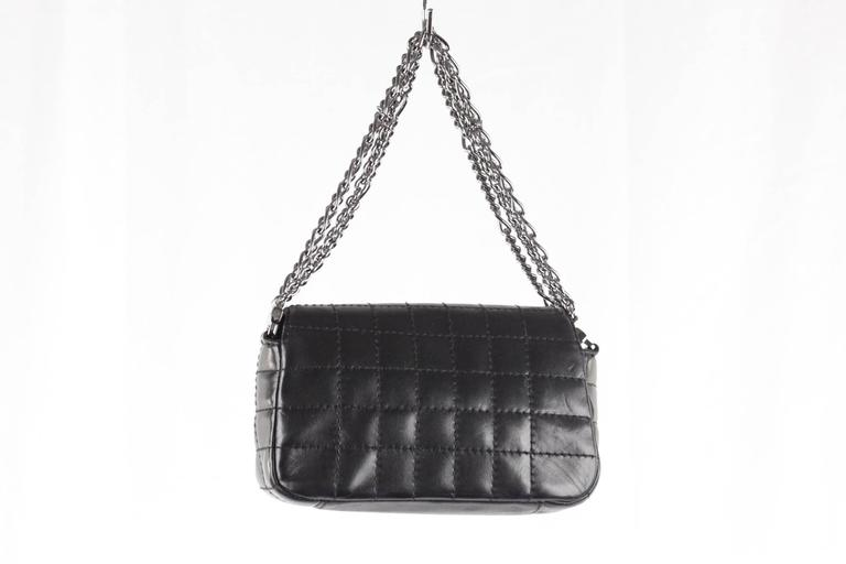 ac6aade192964c Chanel Black Square Quilted Leather Mini Flap Handbag Multi Chain Bag For  Sale 2