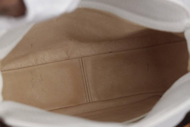 GUCCI Vintage RARE White Leather SEA SHELL HANDBAG Bamboo Bag For Sale 5