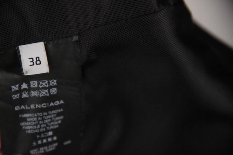 BALENCIAGA Black Leather BIKER MOTO GILET Vest SLEEVELESS Jacket SIZE 38 XS 5