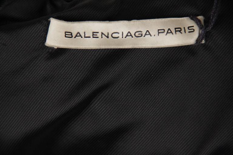 BALENCIAGA Black Leather BIKER MOTO GILET Vest SLEEVELESS Jacket SIZE 38 XS 6
