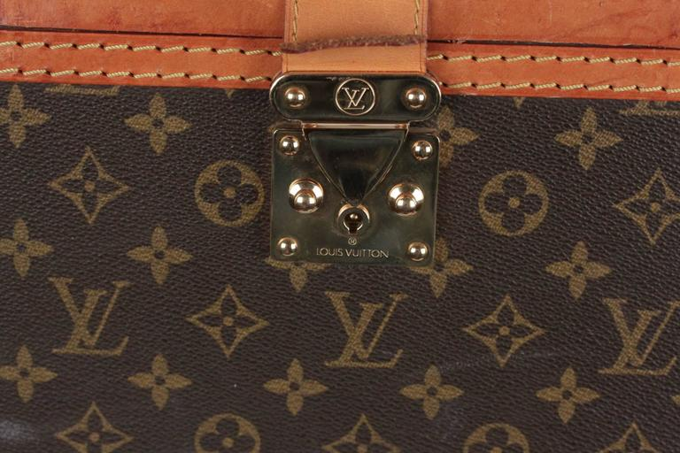 LOUIS VUITTON Vintage Brown MONOGRAM Canvas Travel Bag TRAIN CASE Beauty In Fair Condition For Sale In Rome, Rome