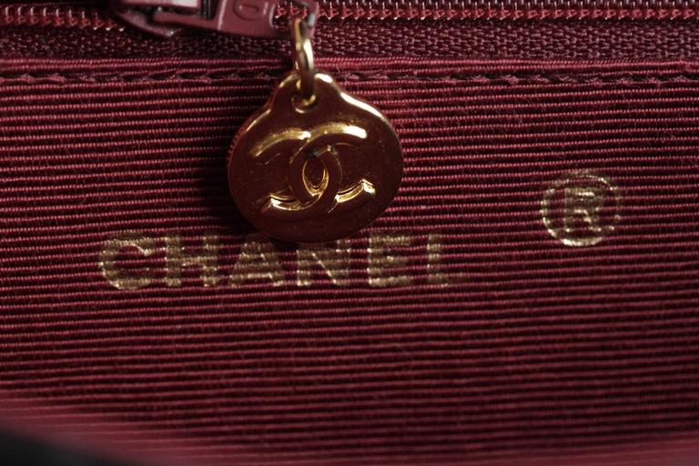CHANEL Vintage 80s Black QUILTED Leather Classic Flap SHOULDER BAG 9