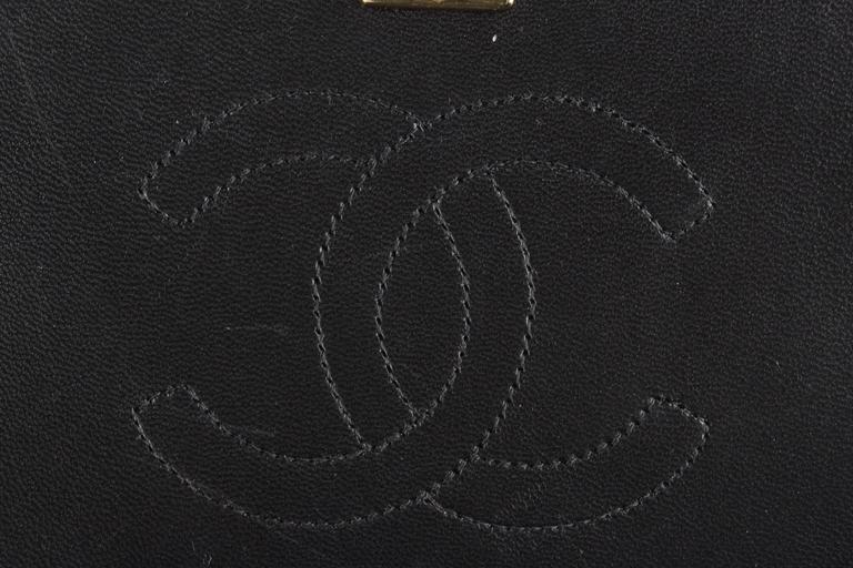 CHANEL Vintage 80s Black QUILTED Leather Classic Flap SHOULDER BAG 5