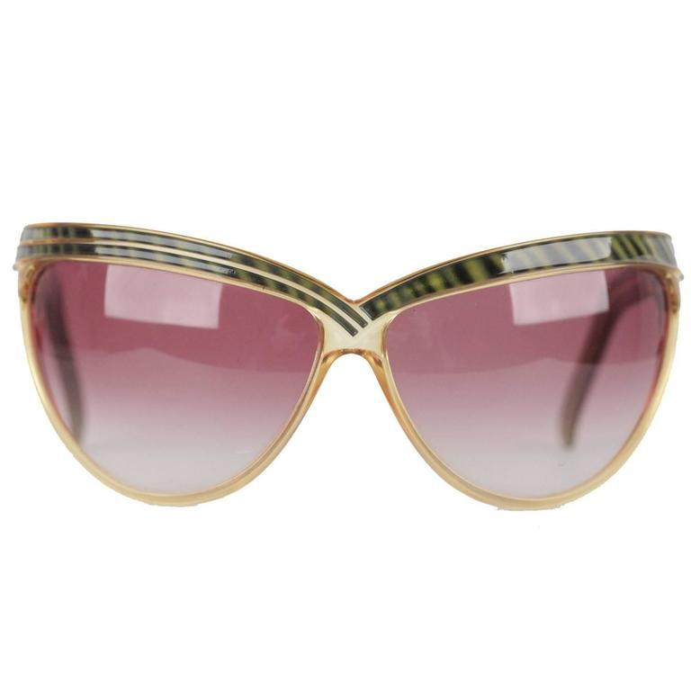 8714ceb1f3a3 CHRISTIAN DIOR Rare Vintage OVERSIZED OPTYL 2205 60 Wrap DIVA Sunglasses  For Sale