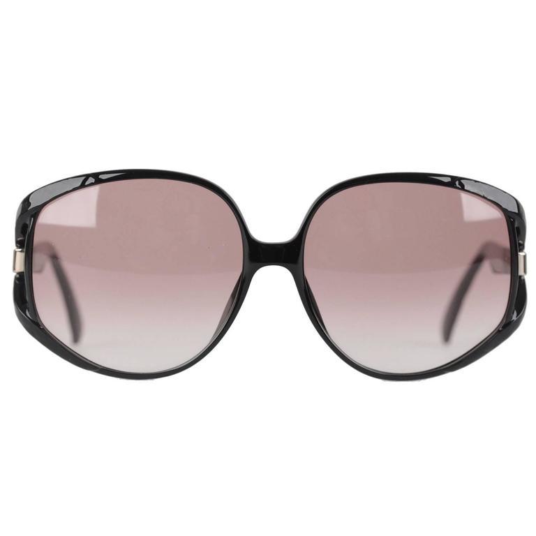 8b383ec1e12f CHRISTIAN DIOR Vintage MINT OVERSIZED Black OPTYL Sunglasses mod. 2320  64 16 For Sale