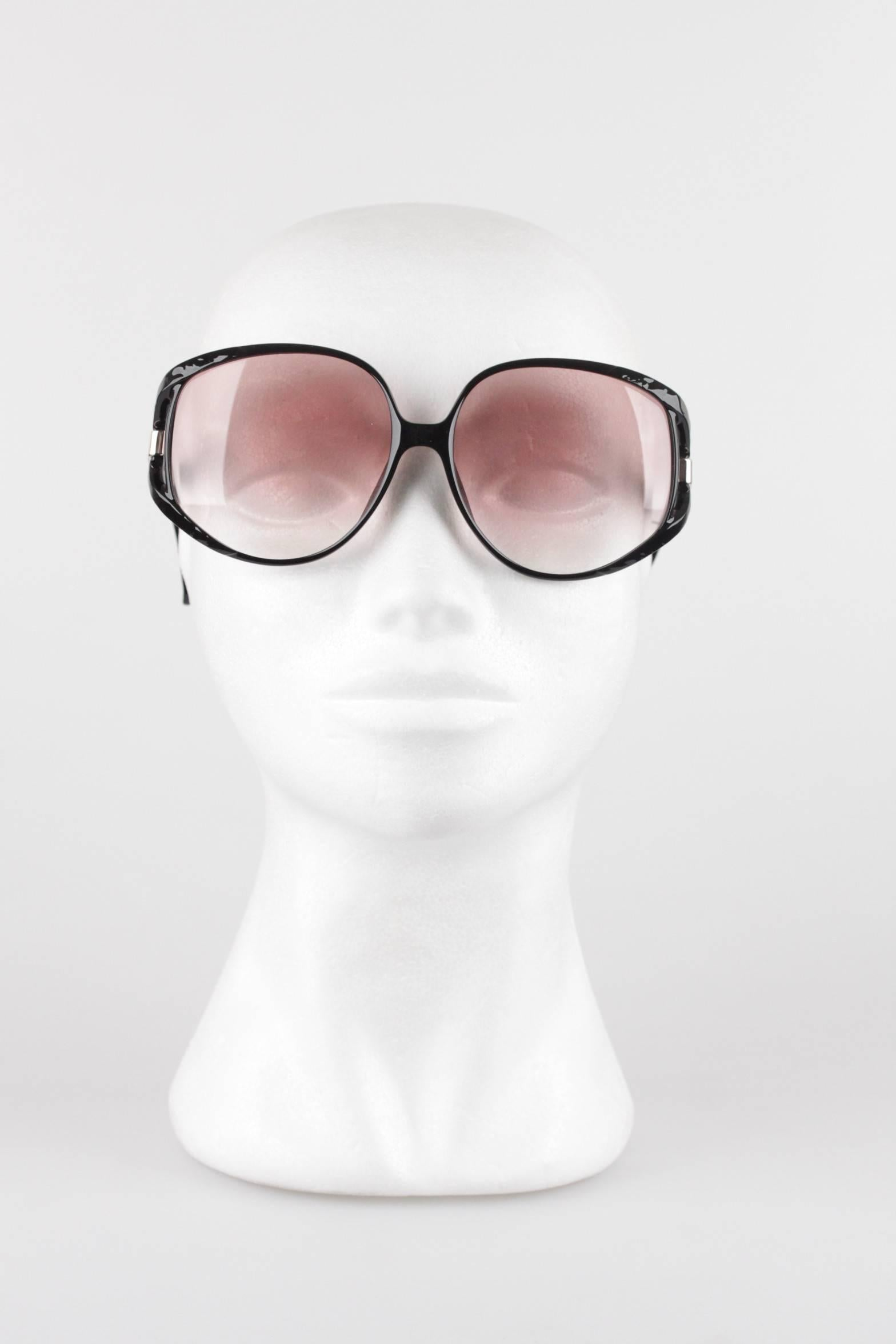 4a6a893eee07 CHRISTIAN DIOR Vintage MINT OVERSIZED Black OPTYL Sunglasses mod. 2320  64 16 at 1stdibs