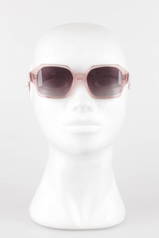 Gray YVES SAINT LAURENT Vintage MINT Rare PINK Sunglasses APATURA 48/18 For Sale