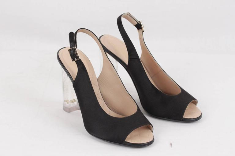 Chanel Heel Shoes  Classic Cap Toe Black Brown