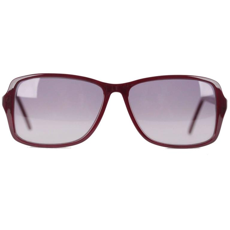 YVES SAINT LAURENT Rare MINT Burgundy Unisex Sunglasses mod. ICARE 59mm