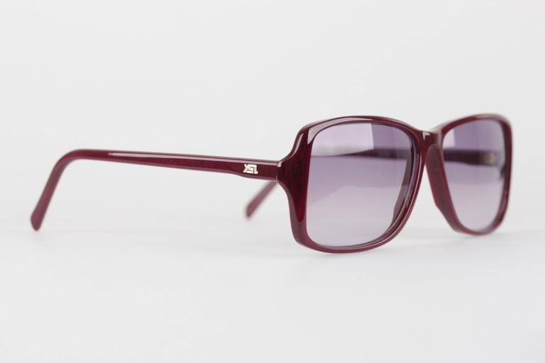 YVES SAINT LAURENT Rare MINT Burgundy Unisex Sunglasses mod. ICARE 59mm In New Condition For Sale In Rome, Rome