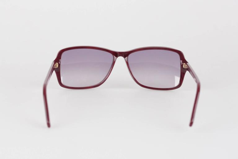 YVES SAINT LAURENT Rare MINT Burgundy Unisex Sunglasses mod. ICARE 59mm For Sale 4