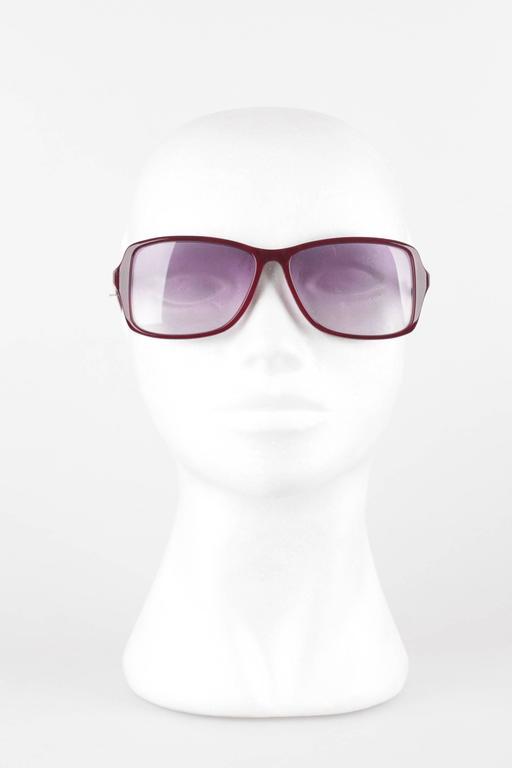 YVES SAINT LAURENT vintage MINT/PRISTINE sunglasses  Mod. ICARE - 59/14 - 537- Made in France  Burgundy half aviator / rectangular shape. Purple GRADIENT mint 100% UV protection lenses  Condition: A+ :MINT CONDITION! Mint item. Never worn or