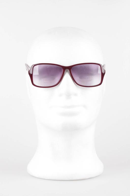 Gray YVES SAINT LAURENT Rare MINT Burgundy Unisex Sunglasses mod. ICARE 59mm For Sale