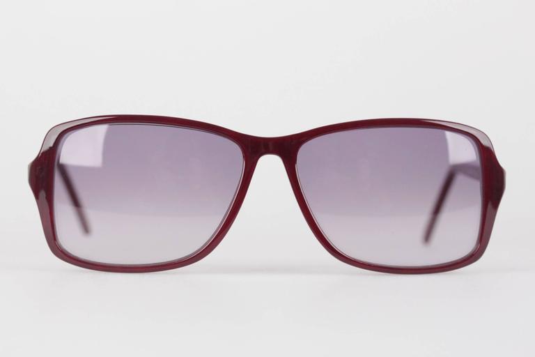 YVES SAINT LAURENT Rare MINT Burgundy Unisex Sunglasses mod. ICARE 59mm For Sale 5
