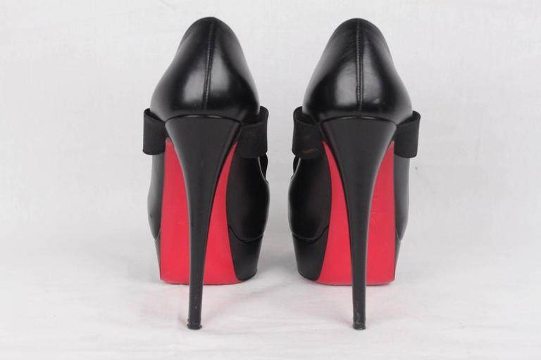 CHRISTIAN LOUBOUTIN Black VERY STAGRAM Platform Open Toe Heels 36 2