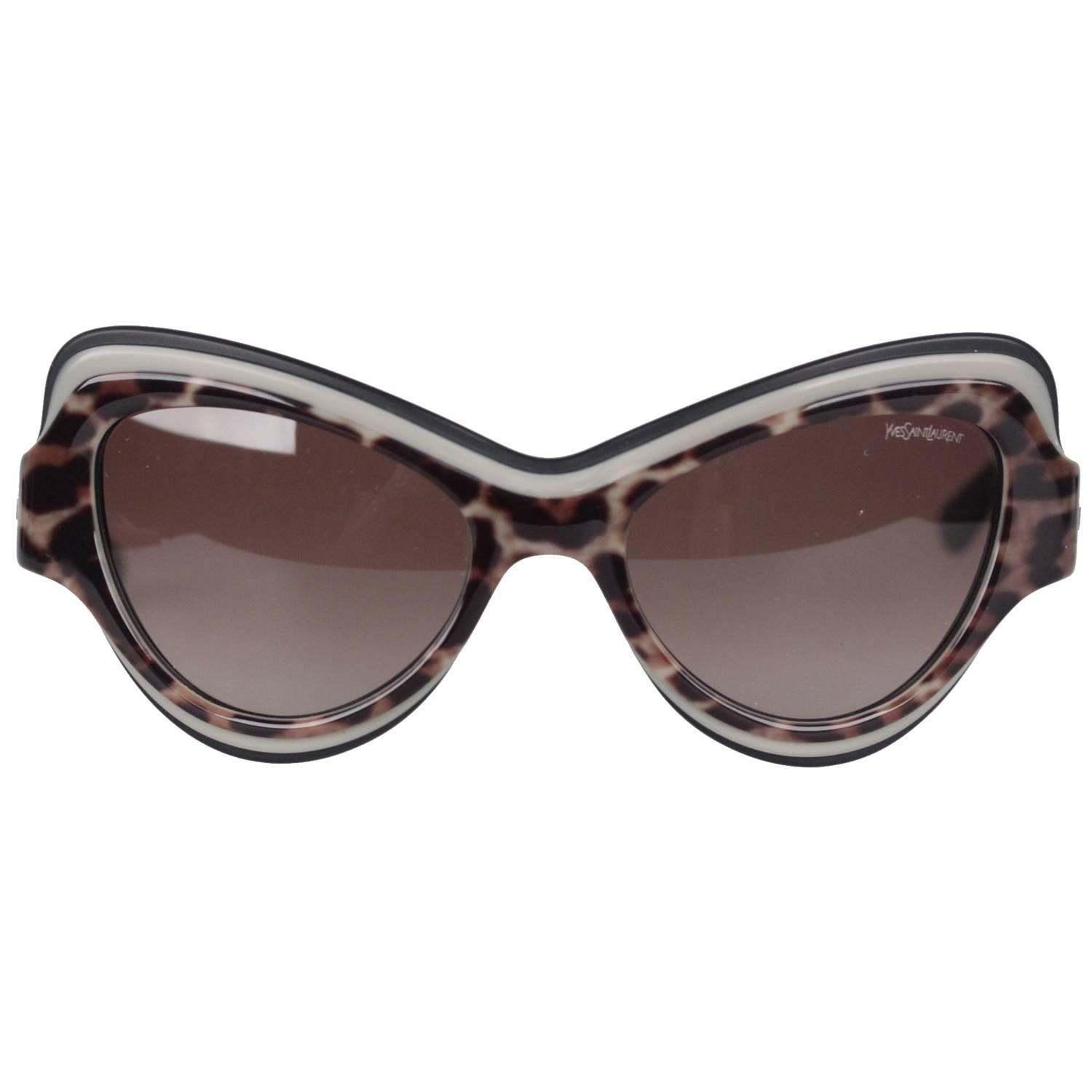 dadee70f89 YVES SAINT LAURENT Cat-Eye Sunglasses YSL 6366 S 53mm 135 MINT and BOXED  For Sale at 1stdibs