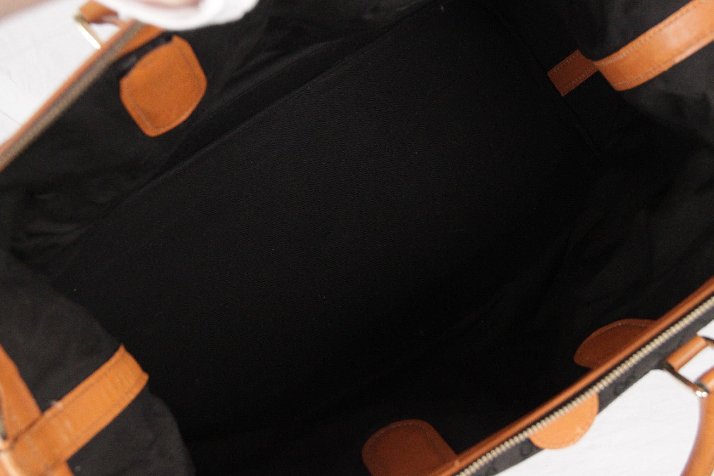 0cbc3277dff GUCCI VINTAGE Black GG MONOGRAM Canvas TRAVEL BAG Weekender at 1stdibs