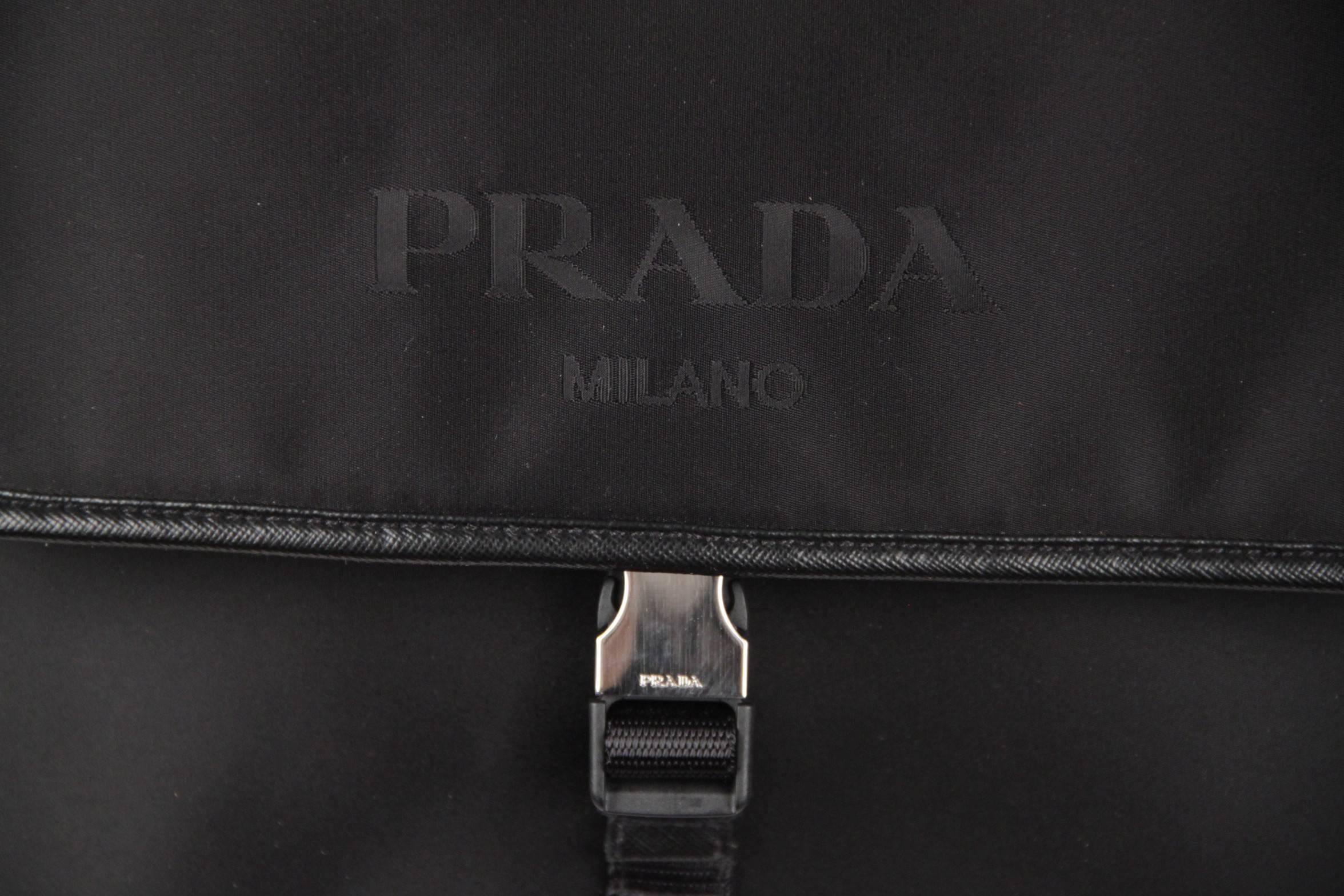 fc091a23e136 ... coupon for prada black canvas single clip messenger bag crossbody for  sale at 1stdibs 34e8d e124c