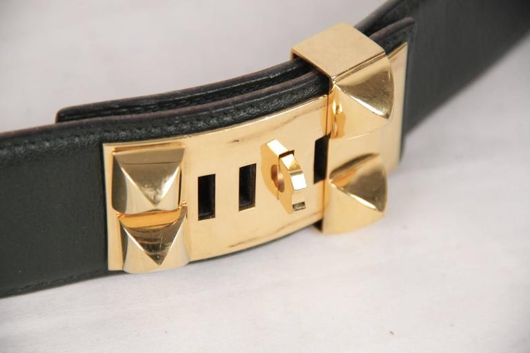 Logo & Tags: 'HERMES Paris - Made in France' embossed on the reverse of the belt , 'HERMES Paris' engraved on hardware, embossed'U' encased in a circle on the reverse (year of production: 1991)