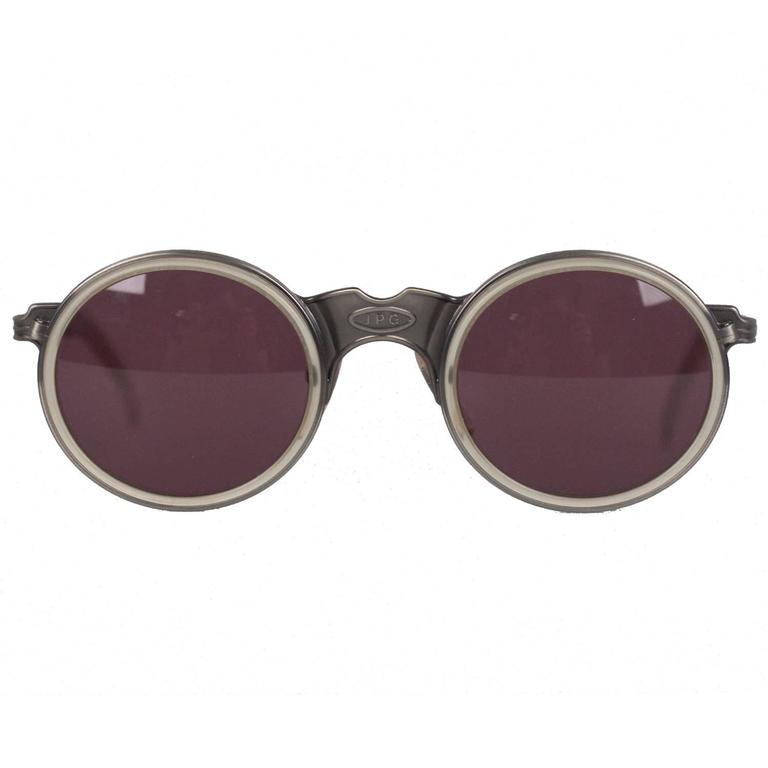 Round Frame Glasses Japan : JEAN PAUL GAULTIER Rare Vintage 56-3272 Round SUNGLASSES ...