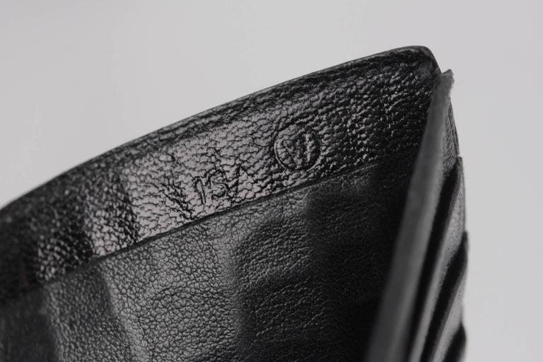 Hermes Vintage Black Crocodile Leather Bifold Wallet For