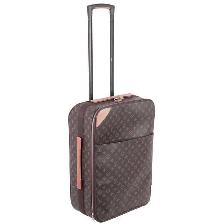 8f685833cfa0 LOUIS VUITTON Monogram Canvas PEGASE 60 Rolling SUITCASE Travel Bag For Sale